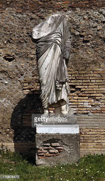 Ostia Antica Forum 2nd century AD Statue Italy