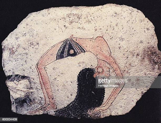 Ostracon with Dancing girl ca 1200 BC Found in the collection of Museo Egizio Torino Artist Ancient Egypt
