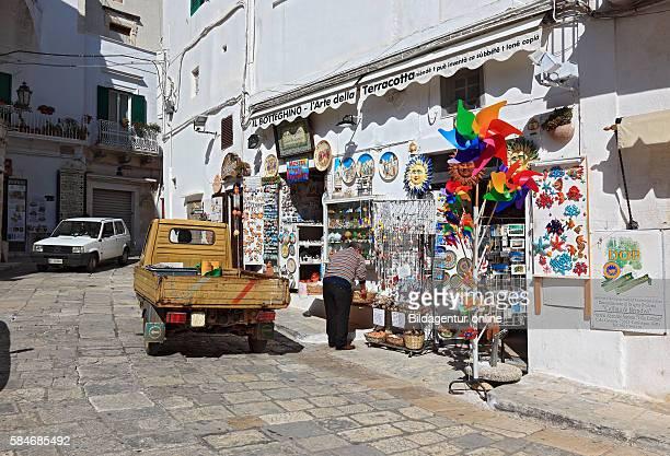 Ostuni a souvenir shop in the historic center Puglia Italy