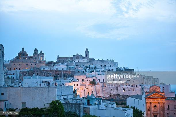 ostuni, the white town - ostuni stock photos and pictures