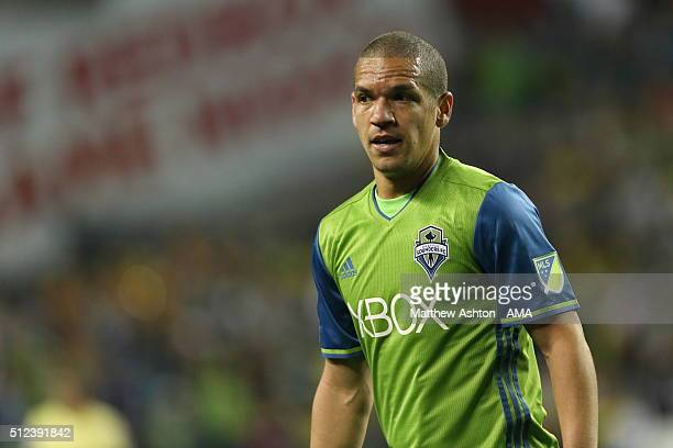 Osvaldo Alonso of the Seattle Sounders during the CONCACAF Champions League match between Seattle Sounders and Club America at CenturyLink Field on...