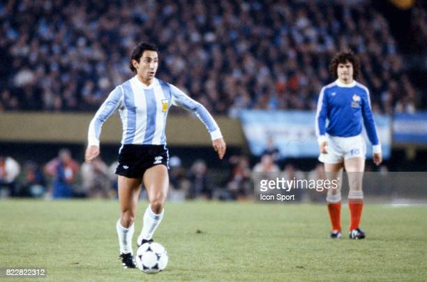 Osvaldo Ardiles Argentine / France 1er Tour Coupe du monde de football de 1978 Estadio Monumental Buenos Aires