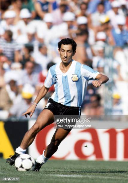 Osvaldo Ardiles in action for Argentina during the FIFA World Cup match between Argentina and Italy at the Estadio Sarria in Barcelona 29th June 1982...