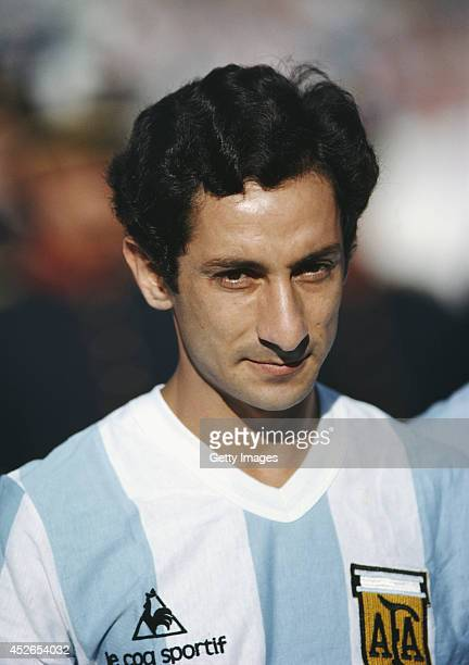 Osvaldo Ardiles of Argentina looks on before the Copa De Oro match between Argentina and Brazil on January 4 1981 in Montevideo Uruguay