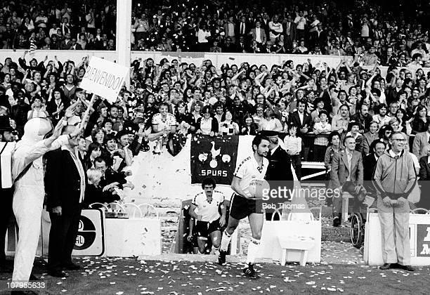 Osvaldo Ardiles of Tottenham Hotspur makes his home debut in the First Division match against Aston Villa at White Hart Lane in London on 23rd August...