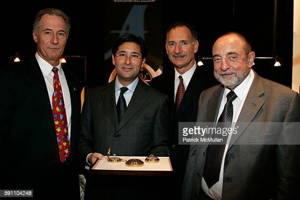 Osvaldo Patrizzi Marc Guten Robert Wexler and Rudolf Bull attend Antiquorum Celebrates The Quarter Millenium of Vacheron Constantin at Tourneau...