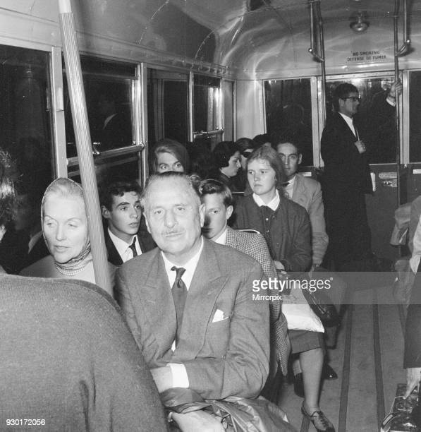 Oswald Mosley and wife head back home to France London Heathrow Airport Wednesday 1st August 1962