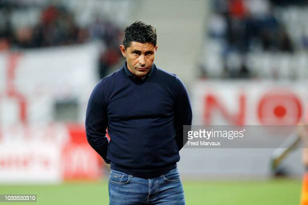 Oswald Tanchot coach of Le Havre during the French Ligue 2 match between Nancy and Le Havre on September 14 2018 in Nancy France
