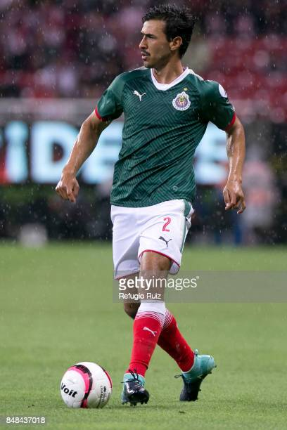Oswaldo Alanis of Chivas drives the ball during the 9th round match between Chivas and Pumas UNAM as part of the Torneo Apertura 2017 Liga MX at...