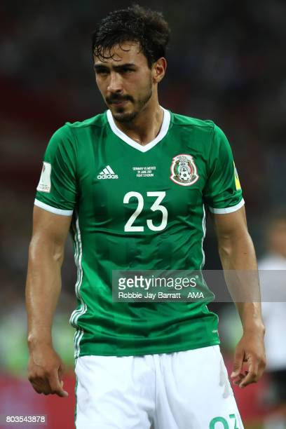 Oswaldo Alanis of Mexico looks on during the FIFA Confederations Cup Russia 2017 SemiFinal match between Germany and Mexico at Fisht Olympic Stadium...