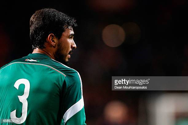 Oswaldo Alanis of Mexico looks on during the international friendly match between Netherlands and Mexico held at the Amsterdam ArenA on November 12...
