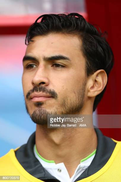 Oswaldo Alanis of Mexico looks on prior to the FIFA Confederations Cup Russia 2017 Group A match between Mexico and Russia at Kazan Arena on June 24...