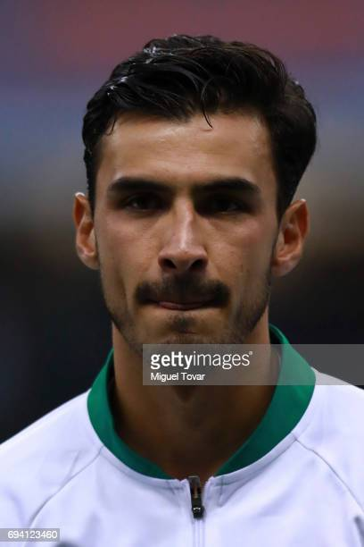 Oswaldo Alanis of Mexico looks on prior to the match between Mexico and Honduras as part of the FIFA 2018 World Cup Qualifiers at Azteca Stadium on...