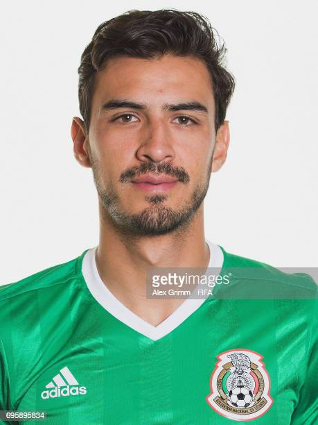 Oswaldo Alanis poses for a picture during the Mexico team portrait session on June 14 2017 in Kazan Russia