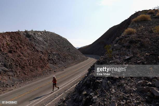 Oswaldo Lopez of Mexico competes in the STYR Labs Badwater 135 on July 11 2017 in Death Valley California Lopez who is a past champion was unable to...