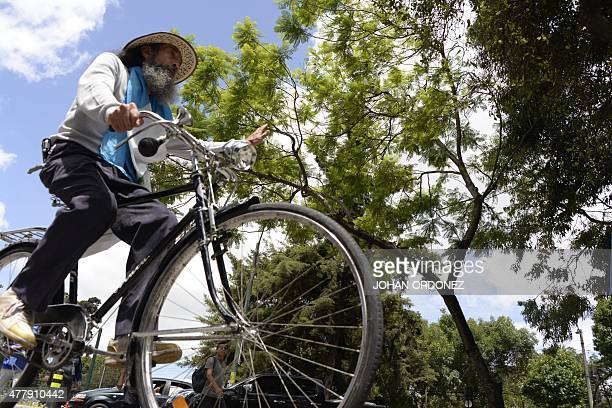 Oswaldo Ochoa aka El Caminate arrives in Guatemala City after a 200 km march initiated in the Quetzaltenango department in protest to the corruption...
