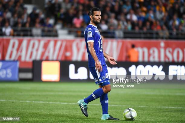 Oswaldo Vizcarrondo of Troyes during the Ligue 1 match between Troyes Estac and FC Nantes at Stade de l'Aube on August 19 2017 in Troyes