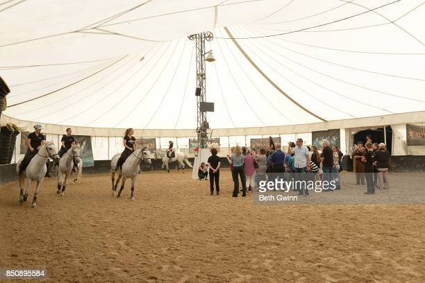 Osysseo by Cavalia runs the horses around the kids and teachers fro the TN School for the Blind on September 21 2017 in Nashville Tennessee