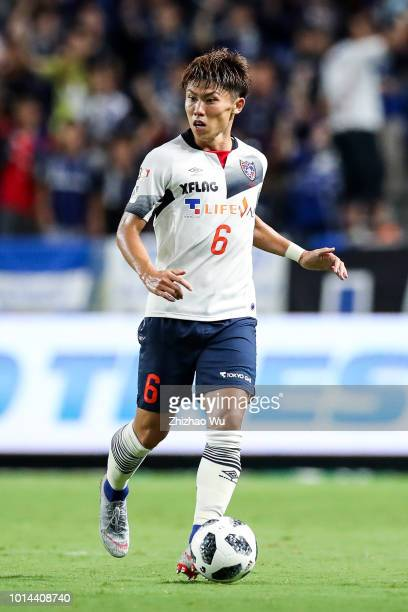 Ota Kosuke of FC Tokyo controls the ball during the JLeague J1 match between Gamba Osaka and FC Tokyo at Suita City Football Stadium on August 10...