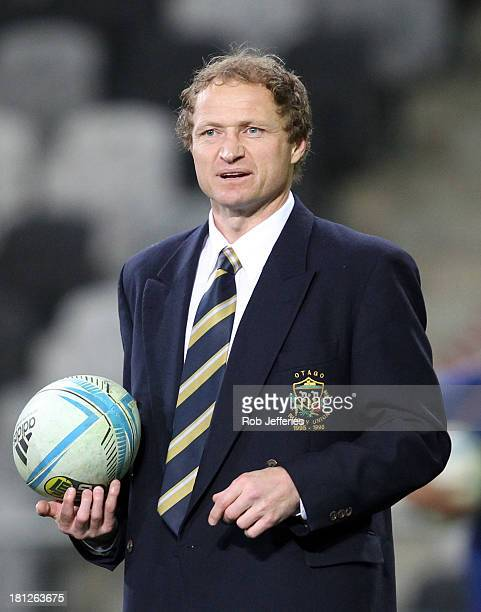 Otago caoch Tony Brown prior to the round six ITM Cup match between Otago and Manawatu at Forsyth Barr Stadium on September 20 2013 in Dunedin New...
