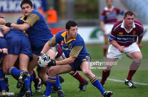 Otago captain Taine Randell watches as half back Byron Kelleher clears the ball during the Otago Southland NPC rugby match, played at Carisbrook,...