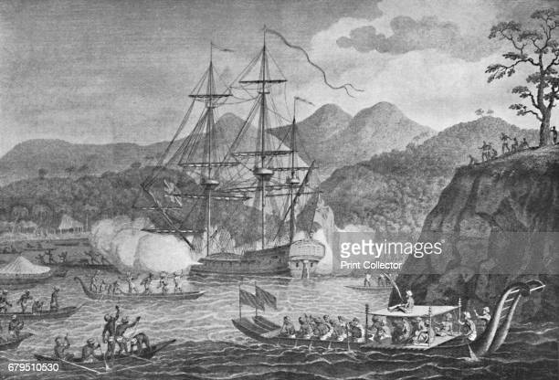 Otaheite Surrendered to Captain Wallis' Samuel Wallis was a British naval officer and explorer of the Pacific Ocean From Social England Volume V...