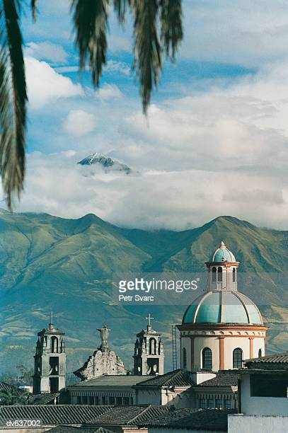 Otalvalo with the Andes in background, Ecuador