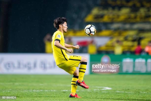 Otani Hidekazu of Kashiwa Reysol in action during the AFC Champions League Group E match between Kitchee and Kashiwa Reysol at Hong Kong Stadium on...