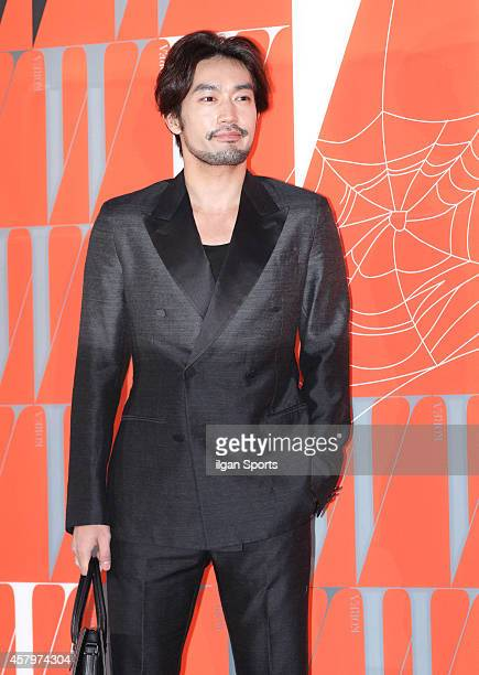 Otani Ryohei poses for photographs during the W Korea campaign Love Your W party at Fradia on October 23 2014 in Seoul South Korea
