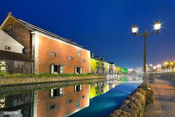 Otaru canal at night, Otaru City, Hokkaido Prefecture, Japan