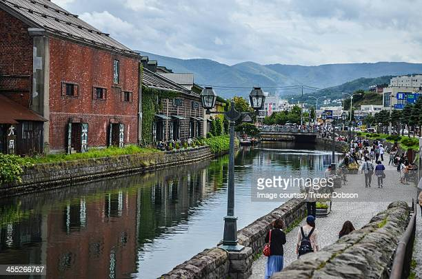 otaru canal - hokkaido stock pictures, royalty-free photos & images