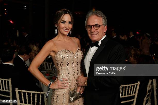 Otavio Mesquita and Melissa Wilman attend the 5th Annual amfAR Inspiration Gala at the home of Dinho Diniz on April 10 2015 in Sao Paulo Brazil