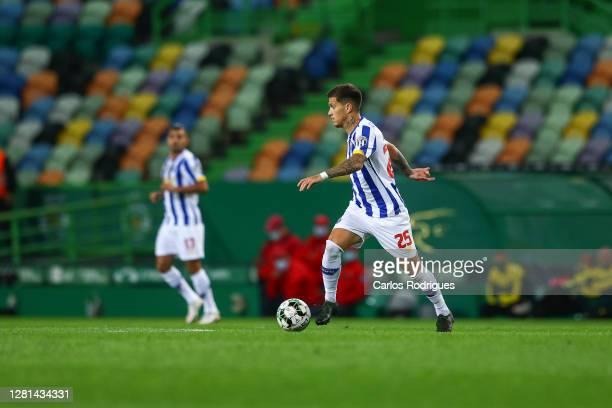 Otavio of FC Porto during the Liga NOS round four match between Sporting CP and FC Porto at Estadio Jose Alvalade on October 17, 2020 in Lisbon,...