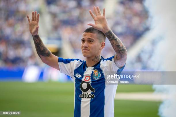 Otavio of FC Porto during the team presentation prior to the preseason friendly match between FC Porto and Newcastle at Estádio do Drago on July 28...