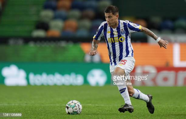 Otavio of FC Porto in action during the Liga NOS match between Sporting CP and FC Porto at Estadio Jose Alvalade on October 17, 2020 in Lisbon,...