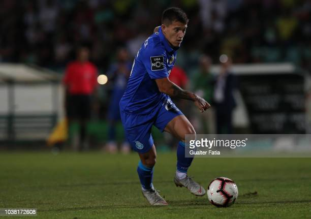 Otavio of FC Porto in action during the Liga NOS match between Vitoria FC and FC Porto at Estadio do Bonfim on September 22 2018 in Setubal Portugal
