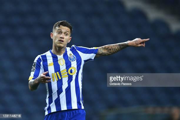 Otavio of FC Porto in action during the Liga NOS match between FC Porto and Boavista FC at Estadio do Dragao on February 13, 2021 in Porto, Portugal....