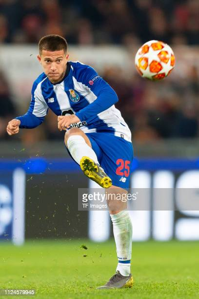 Otavio of Porto controls the ball during the UEFA Champions League Round of 16 First Leg match between AS Roma and FC Porto at Stadio Olimpico on...