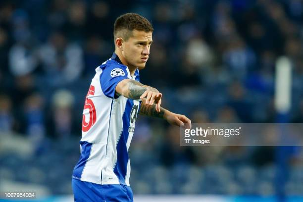 Otavio of Porto gestures during the Group D match of the UEFA Champions League between FC Porto and FC Schalke 04 at Estadio do Dragao on November 28...