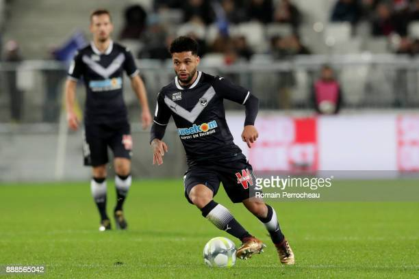 Otavio Passos Santos of Bordeaux in action during the Ligue 1 match between FC Girondins de Bordeaux and Strasbourg at Stade Matmut Atlantique on...
