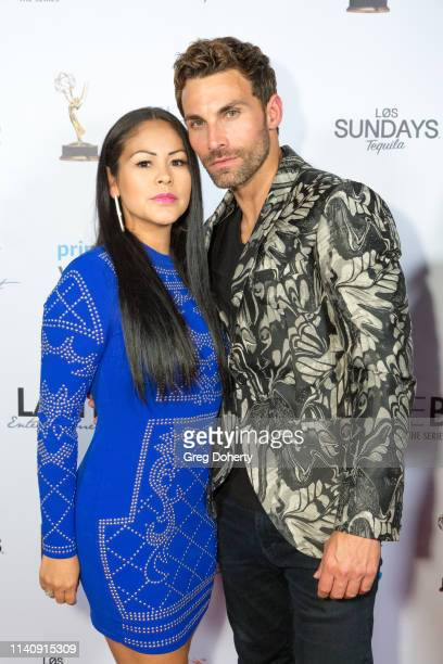 Otelia Baker and Erik Fellows attend The Bay The Series PreEmmy Red Carpet Celebration at The Shelby on May 2 2019 in Los Angeles California