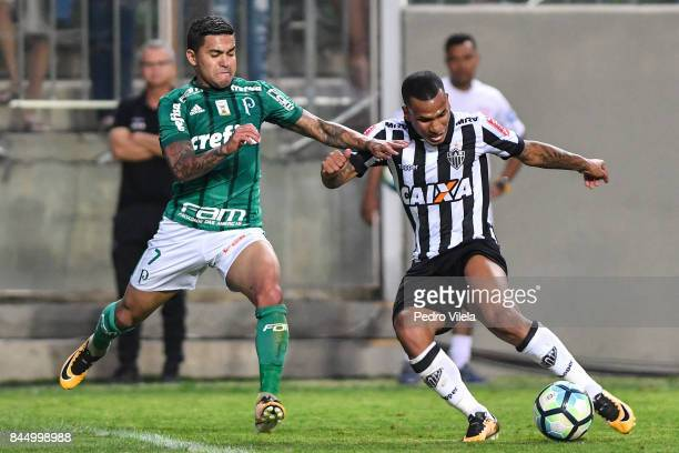 Otero of Atletico MG and Dudu of Palmeiras battle for the ball during a match between Atletico MG and Palmeiras as part of Brasileirao Series A 2017...