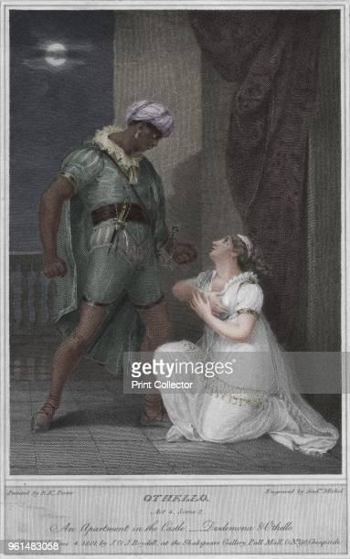 Othello. Act 4. Scene 2. An Apartment in the Castle. Desdemona & Othello', 1801. After R. K. Porter. From Shakespeare Gallery, Pall Mall by John...
