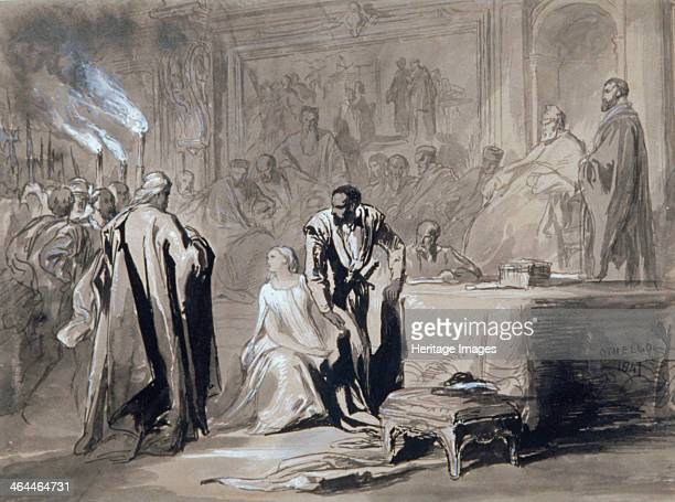 'Othello and Desdemona before the Senate' 1847 Scene from Shakespeare's Othello