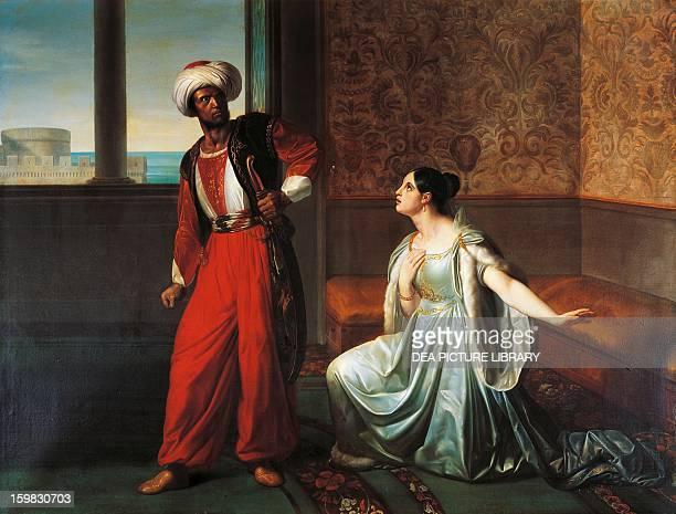 Othello and Desdemona scene from Otello scene by William Shakespeare oil on canvas by Giuseppe Sabatelli 136x178 cm Milano Accademia Di Belle Arti Di...