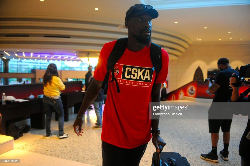 Othello Hunter, #44 of CSKA Moscow during the CSKA Moscow Arrival to participate of 2018 Turkish Airlines EuroLeague F4 at Hyatt Regency Hotel on May 16, 2018 in Belgrade, Serbia.