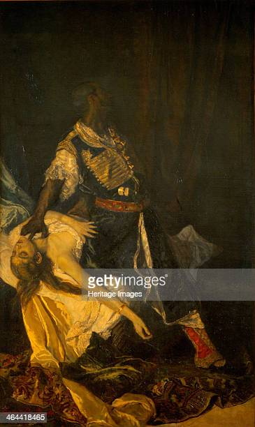 Othello Killing Desdemona 1879 From a private collection