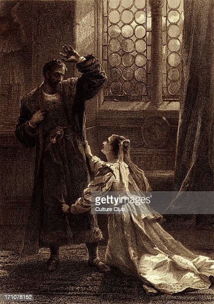 Othello Play by William Shakespeare 'Desdemona Upon my knees what doth your speech import I understand a fury in your words But not the words ' Drawn...
