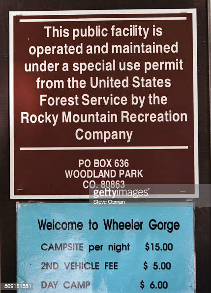 Other than a sign that says that Wheeler Gorge Campground is