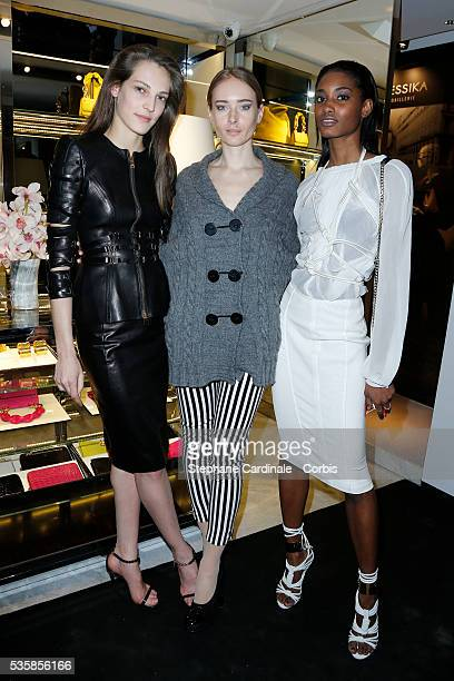 Othilia Olga Sorokina and Monrose Melodie attend the Tom Ford Flagship Opening Cocktail as part of Paris Fashion Week in Paris
